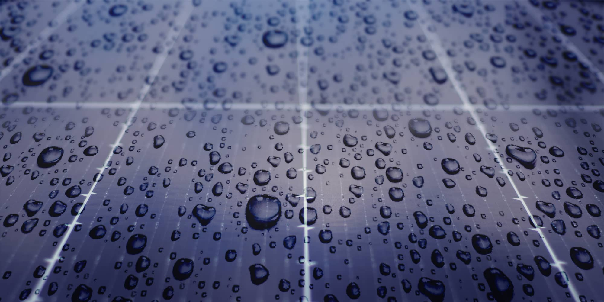 Solar Panels on rainy season